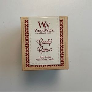 Woodwick Candle Candy Cane Crackles Glass Jar 3oz